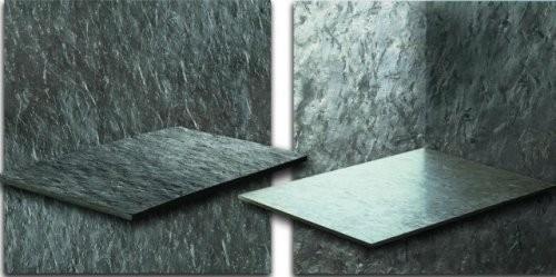 Otta Phyllit, spaltraue Oberfläche, feingeschliffene Oberfläche