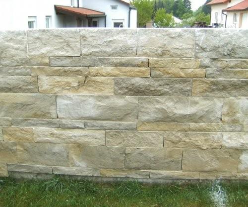 Jura Mauersteine SONAT S313 beige-grau-gemischtfarbig, gesägt und gespalten