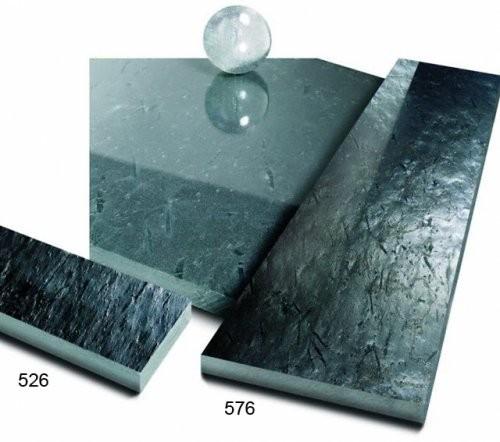 Otta Phyllit Bodenplatte Vergleich spaltrau zu feingeschliffen