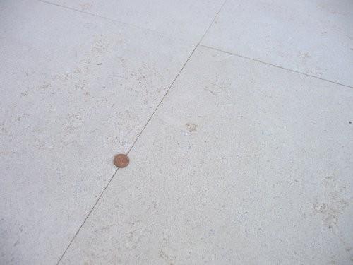 Nahaufnahme Oberfläche und Farbe heller Kalkstein