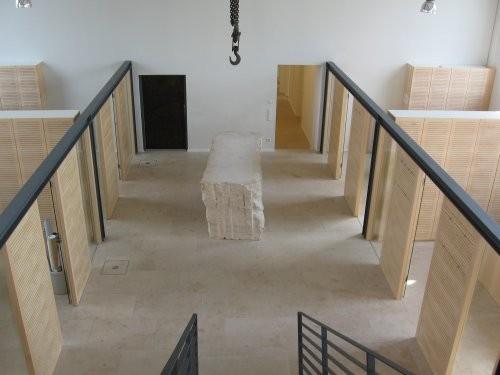 Jura Kalkstein, gelb, tellergestrahlt und gebürstet, Bodenplatten