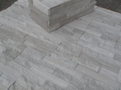 Marmor-Wandpaneele creme-grau, Winkelecken