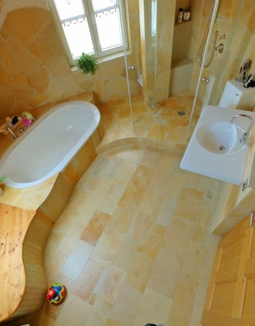 Badezimmer, Bahnen-Mischbelag