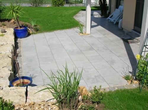 Jura Kalkstein, grau, sandgestrahlt und gebürstet, Terrasse