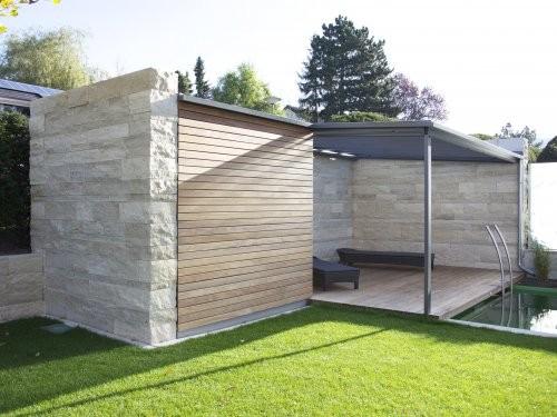 SONAT S213, Jura Mauersteine beige, gesägt und gespalten, Gartenmauer