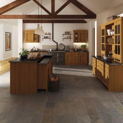Küche, Boden, Buntschiefer