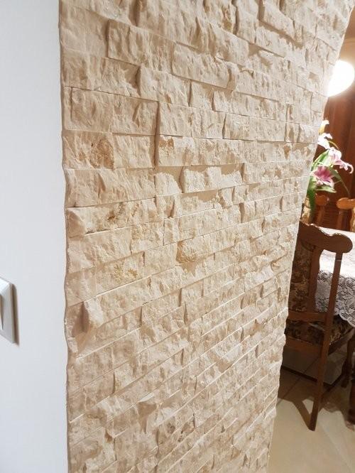 Wanddesign Marmor creme, Wohnen und Essen