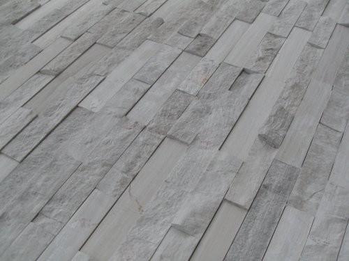 Wandverkleidung Marmor creme-grau