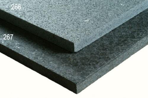SONAT 267, Basalt schwarz, Vergleich Formatplatte