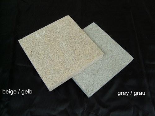Jura Kalkstein, gestockt, Vergleich gelb - grau