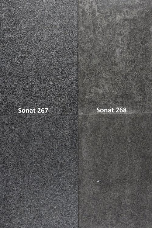 SONAT 268, Basalt anthrazit, Vergleich mit 267