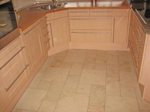 Jura Kalkstein, gelb, sandgestrahlt und gebürstet, Küche