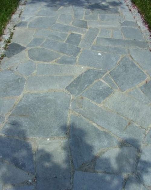 Polygonalplatten Quarzit hellgrau