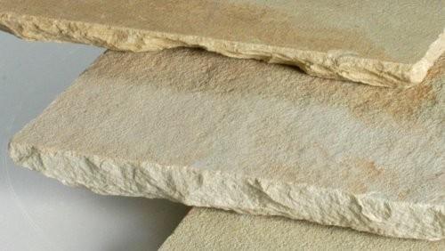 Mint Sandstein Kantenbearbeitung handbehauen