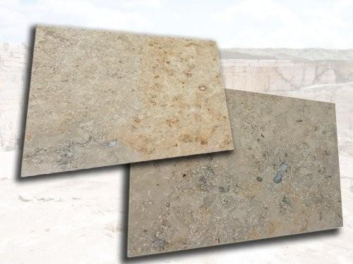 Jura Kalkstein grau-gelb-bunt, poliert, Formatplatten