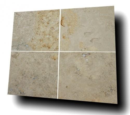 Jura Kalkstein grau-gelb-bunt, feingeschliffen, Formatplatten
