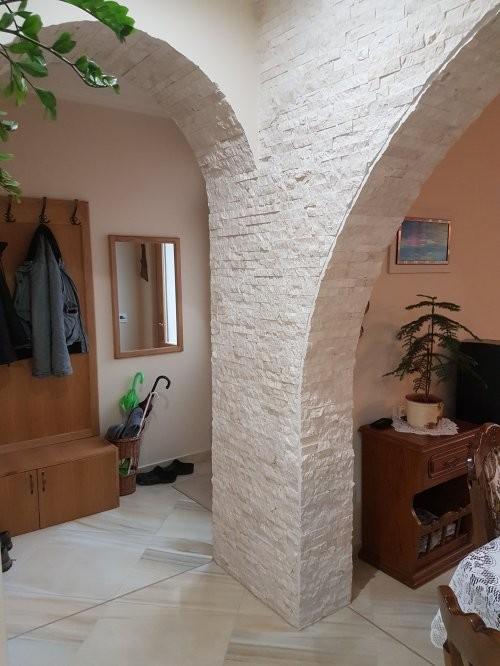 SONAT 214, Kalksteinpaneele Marmor creme, Wohnen