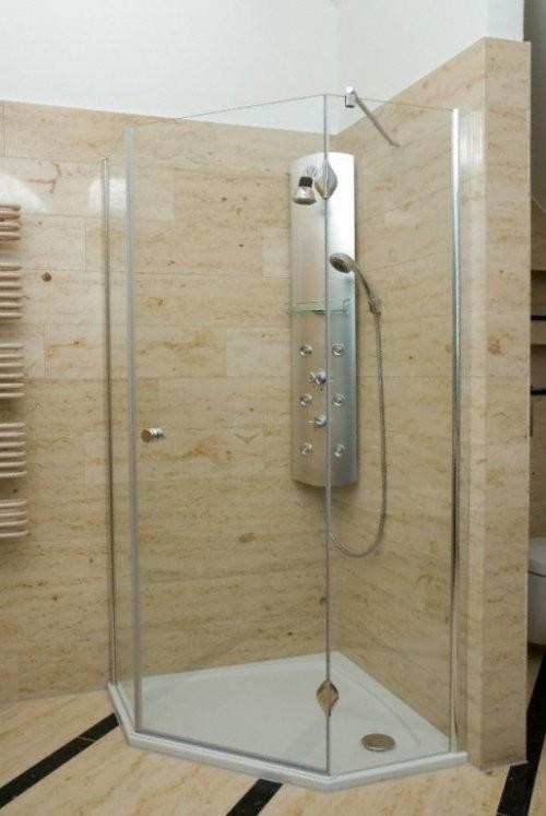 Jura Kalkstein, gelb-gebändert, feingeschliffen, Dusche
