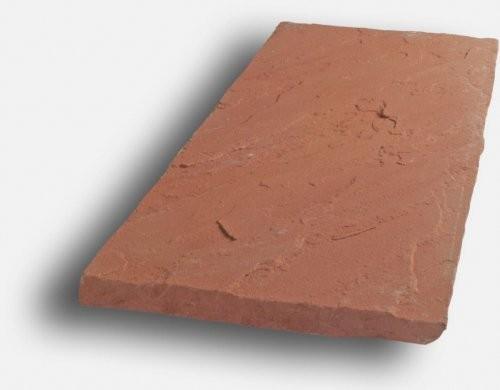 Sandstein rot, Oberfläche spaltrau