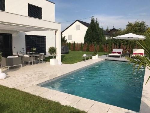 getrommeltes Format 400/600 mm für den Garten- und Poolbereich