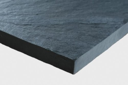 Classic black Porto slate with sawn edges