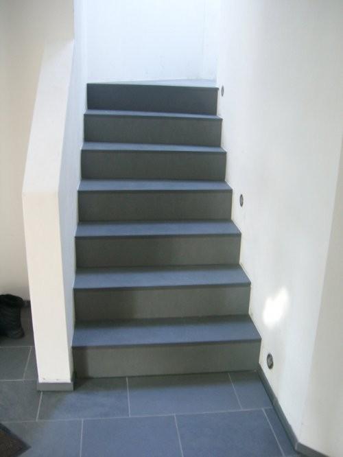 Treppe, Schiefer Jade grau, spaltrau