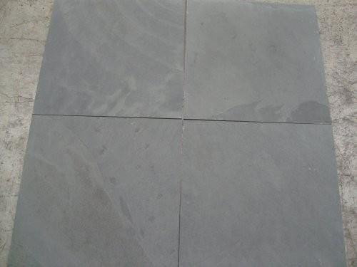 Formatplatte, Schiefer Jade grau