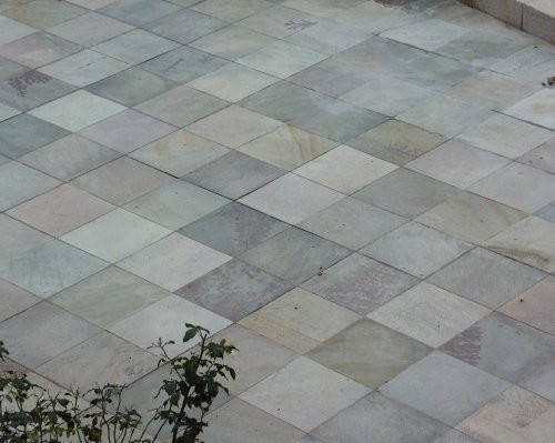 Außenbereich Quarzit grün-braun-violett