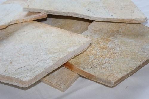 Bodenplatten aus Quarzit Santana, gelb