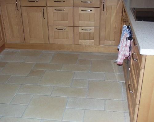 Küchenboden aus römischem Verband