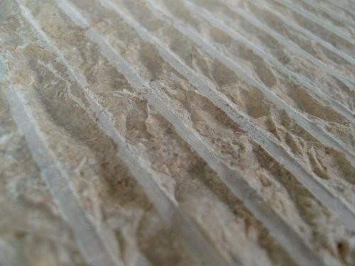 Jura Kalkstein, gelb, fein gratiniert, Formatplatte, Oberfläche