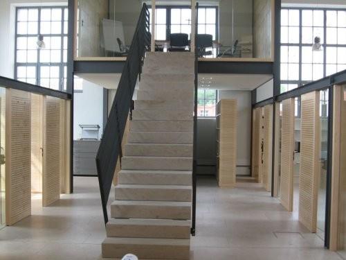 Jura Kalkstein, gelb, tellergestrahlt und gebürstet, Treppe