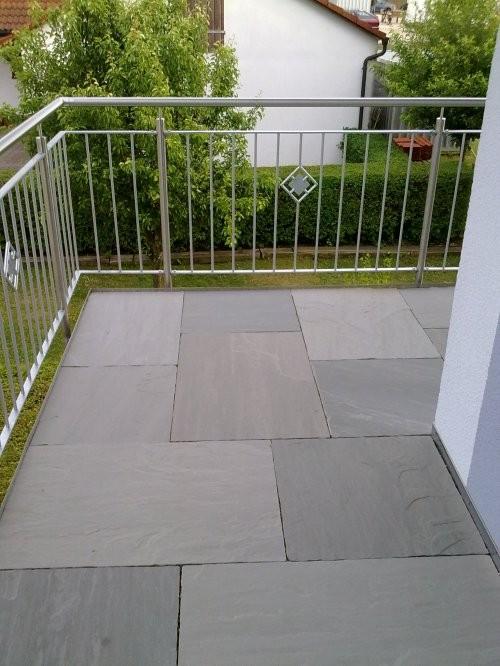 Balkon aus Kandla grau