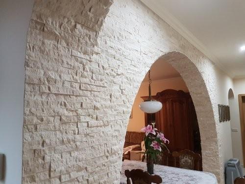 Kalksteinpaneele Marmor creme, Bogen, Wandelemente