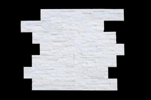 Riemchen für Wand in Quarzit weiß