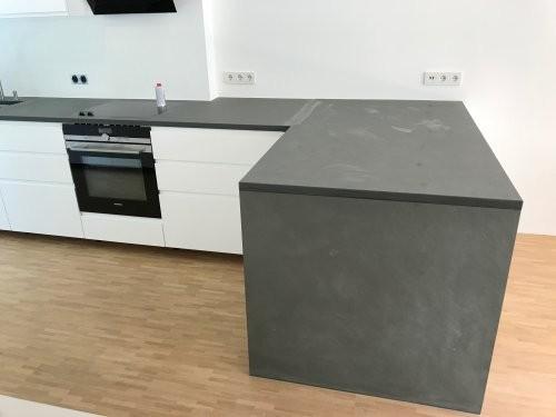 Küchenarbeitsplatte, grauer Schiefer